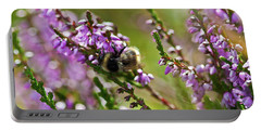 Bee On Heather Portable Battery Charger