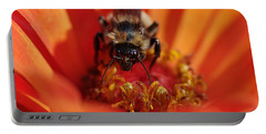Bee Taking Care Of Business Portable Battery Charger by Greg Graham