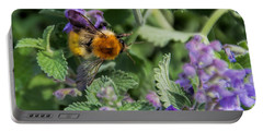 Portable Battery Charger featuring the photograph Bee Too by David Gleeson