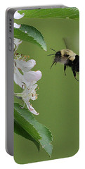 Bee With Apple Blossoms Portable Battery Charger