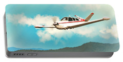 Beechcraft Bonanza V Tail Red Portable Battery Charger