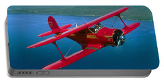 Beechcraft Model 17 Staggerwing Flying Portable Battery Charger