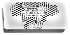 Bees Cross Portable Battery Charger