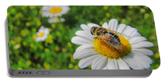 Honey Bee Pollination Services Portable Battery Charger by Maciek Froncisz