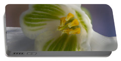 Bee's View Of A Snowdrop Portable Battery Charger