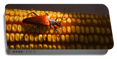 Beetle On Corn Ear Portable Battery Charger