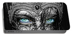 Behind Blue Eyes Portable Battery Charger by Mo T