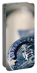 Portable Battery Charger featuring the photograph Behind The Badge by Trish Mistric