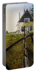 Portable Battery Charger featuring the painting Behind The Old Church by Marilyn  McNish