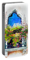 Portable Battery Charger featuring the painting Bei Fiori by Greg Collins