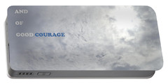 Being Strong With Courage Portable Battery Charger