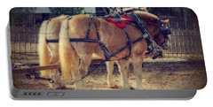 Belgium Draft Horses Portable Battery Charger