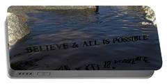 Believe And All Is Possible Portable Battery Charger