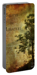 Believe In Miracles - With Text Portable Battery Charger by Claudia Ellis