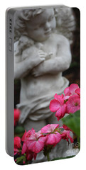 Believe What Your Heart Feels - Angel Art Portable Battery Charger