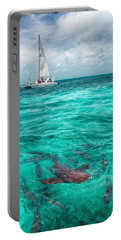 Belize Turquoise Shark N Sail  Portable Battery Charger