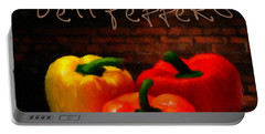 Bell Peppers II Portable Battery Charger by Lourry Legarde