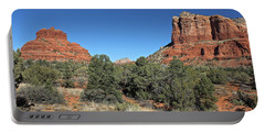 Portable Battery Charger featuring the photograph Bell Rock And Courthouse Butte by Penny Meyers