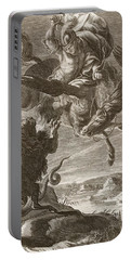 Bellerophon Fights The Chimaera, 1731 Portable Battery Charger by Bernard Picart
