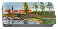 Belmore Basin From The North Sea Wall Portable Battery Charger by Pamela  Meredith