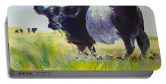 Belted Galloway Cow Portable Battery Charger