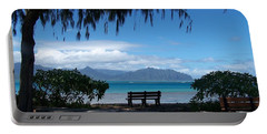 Bench Of Kaneohe Bay Hawaii Portable Battery Charger