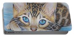 Bengal Kitten Portable Battery Charger by Jane Girardot