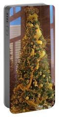 Benson Towers - Fleur De Lis Tree - New Orleans La Portable Battery Charger by Deborah Lacoste