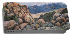 Portable Battery Charger featuring the painting Benton by Donna Tucker