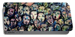 Berlin Wall Graffiti  Portable Battery Charger by Anthony Dezenzio