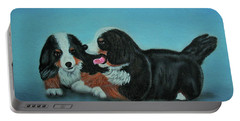 Bernese Mountain Puppies Portable Battery Charger