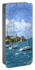 Portable Battery Charger featuring the photograph Bermuda Sailboats by Verena Matthew
