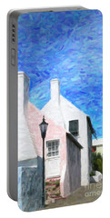 Portable Battery Charger featuring the photograph Bermuda Side Street by Verena Matthew