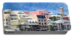 Portable Battery Charger featuring the photograph Bermuda Waterfront by Verena Matthew