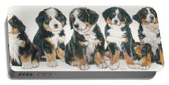 Bernese Mountain Dog Puppies Portable Battery Charger
