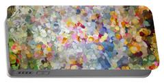 Berries Around The Tree - Abstract Art Portable Battery Charger