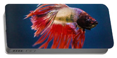 Portable Battery Charger featuring the photograph Betta Fish 2 by Lisa Brandel