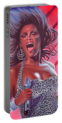 Beyonce Portable Battery Charger by Paul Meijering
