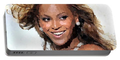 Beyonce Portrait Portable Battery Charger