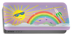 Beyond The Rainbow Portable Battery Charger by J L Meadows