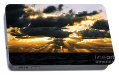 Portable Battery Charger featuring the photograph Crespuscular Biblical Rays At Dusk In The Gulf Of Mexico by Michael Hoard