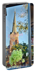 Portable Battery Charger featuring the photograph Biblion Used Books Reflections 3 - Lewes Delaware by Kim Bemis