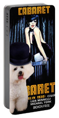 Bichon Frise Art - Cabaret Movie Poster Portable Battery Charger