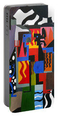 Portable Battery Charger featuring the painting Bicloptochotik by Ryan Demaree