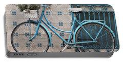 Vintage Bicycle Photography - Bicycles Are Not Only For Summer Portable Battery Charger