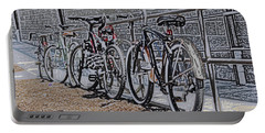 Bicycles On A Rail Portable Battery Charger