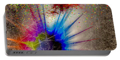 Portable Battery Charger featuring the digital art Big Bang by Eleni Mac Synodinos
