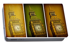 Big Ben Triptych 2 Portable Battery Charger by Stephen Stookey