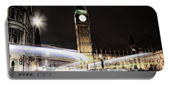Big Ben With Light Trails Portable Battery Charger