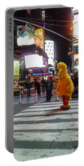 Big Bird On Times Square Portable Battery Charger